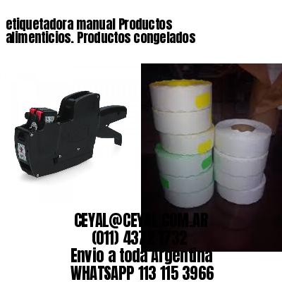 etiquetadora manual Productos alimenticios. Productos congelados
