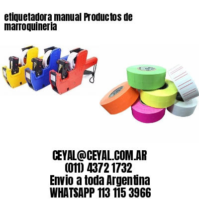 etiquetadora manual Productos de marroquineria