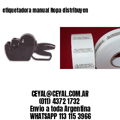 etiquetadora manual Ropa distribuyen