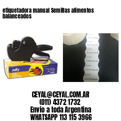 etiquetadora manual Semillas alimentos balanceados