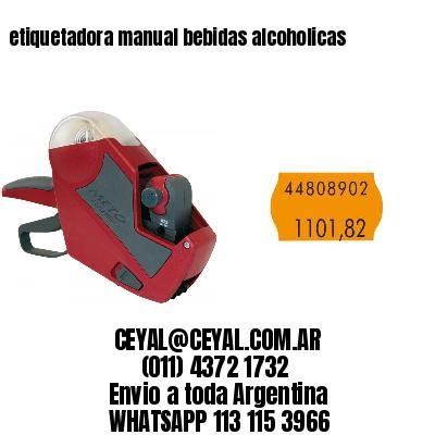 etiquetadora manual bebidas alcoholicas