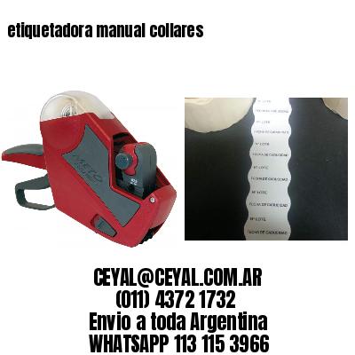etiquetadora manual collares