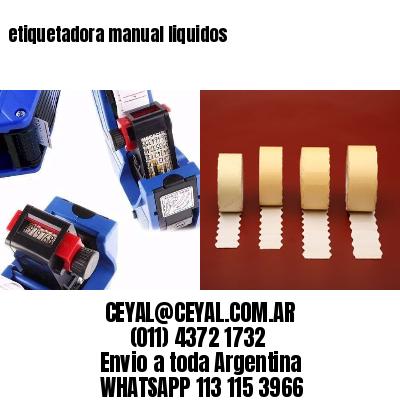 etiquetadora manual liquidos
