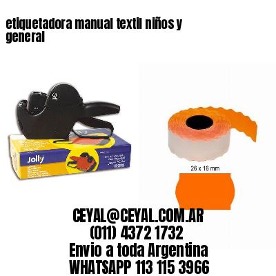 etiquetadora manual textil niños y general