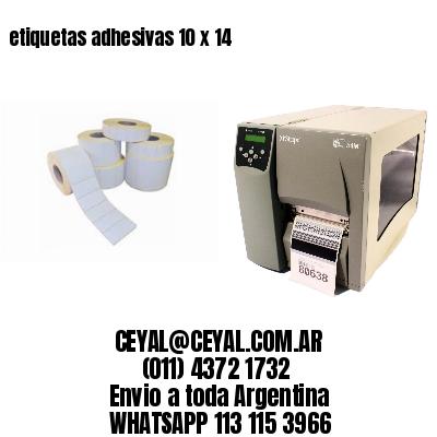 etiquetas adhesivas 10 x 14