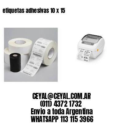 etiquetas adhesivas 10 x 15