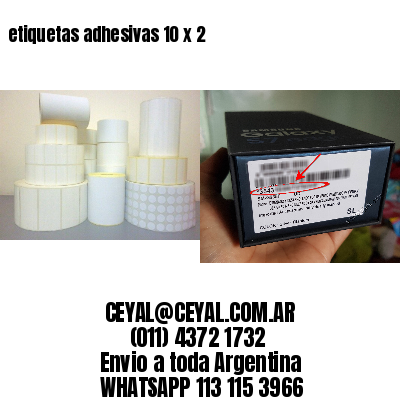 etiquetas adhesivas 10 x 2