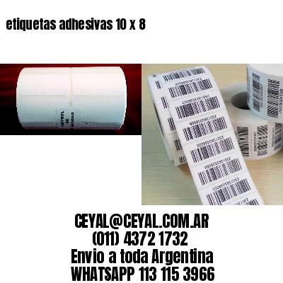etiquetas adhesivas 10 x 8
