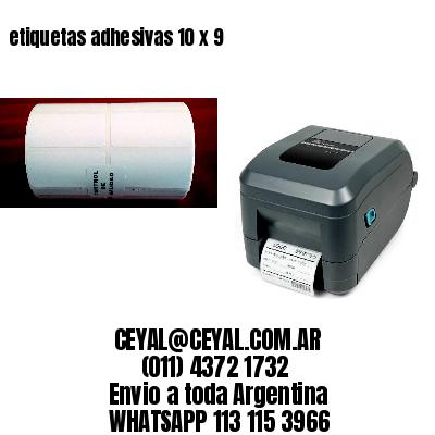 etiquetas adhesivas 10 x 9