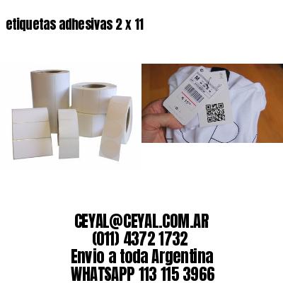 etiquetas adhesivas 2 x 11
