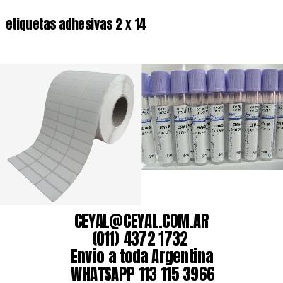 etiquetas adhesivas 2 x 14