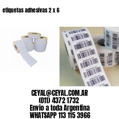 etiquetas adhesivas 2 x 6