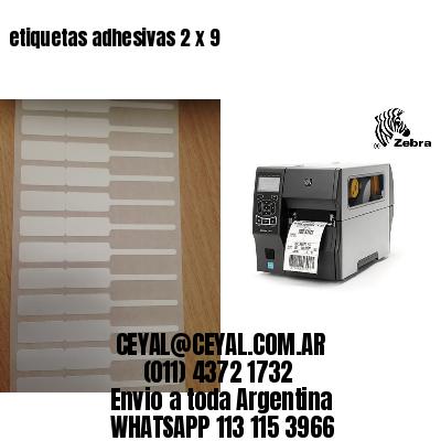 etiquetas adhesivas 2 x 9