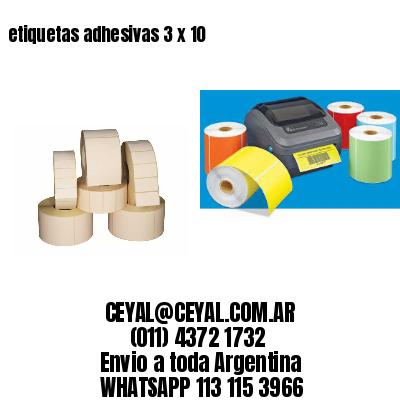 etiquetas adhesivas 3 x 10
