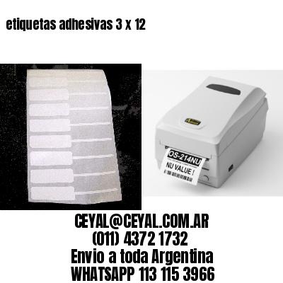 etiquetas adhesivas 3 x 12