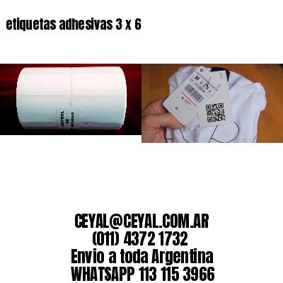 etiquetas adhesivas 3 x 6