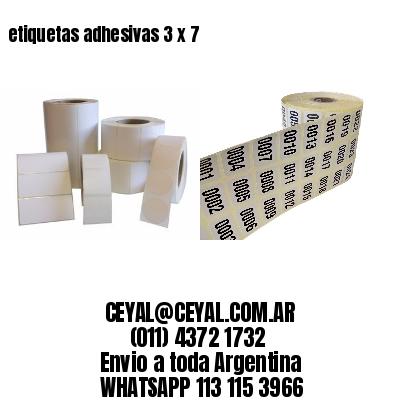 etiquetas adhesivas 3 x 7