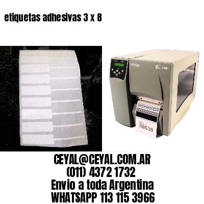 etiquetas adhesivas 3 x 8