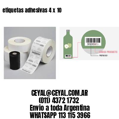 etiquetas adhesivas 4 x 10