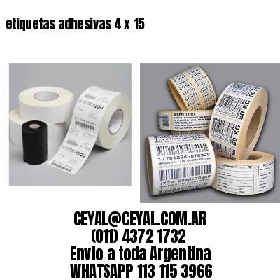 etiquetas adhesivas 4 x 15