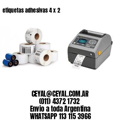 etiquetas adhesivas 4 x 2