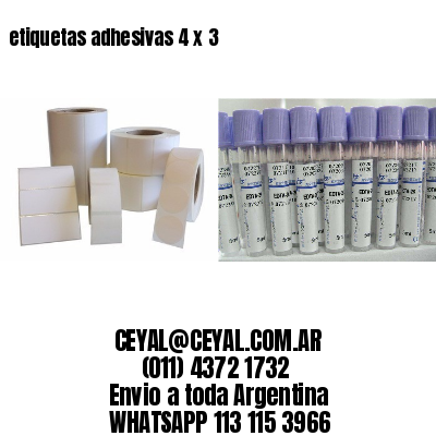 etiquetas adhesivas 4 x 3