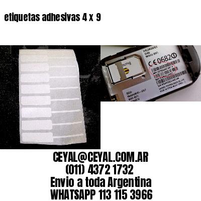 etiquetas adhesivas 4 x 9