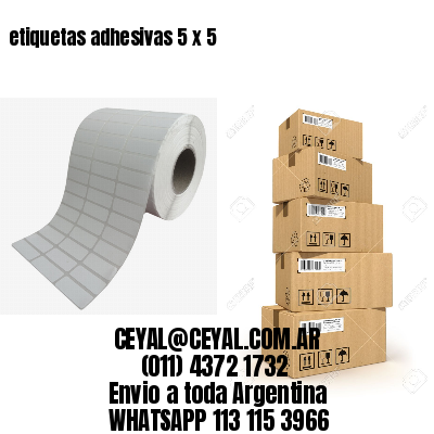 etiquetas adhesivas 5 x 5