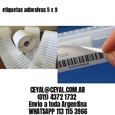 etiquetas adhesivas 5 x 9