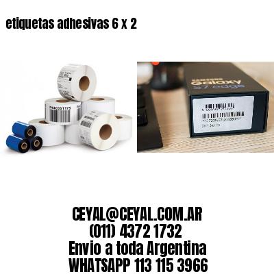 etiquetas adhesivas 6 x 2