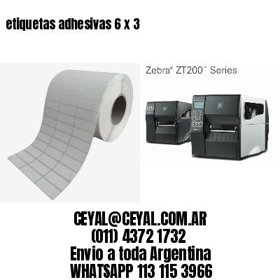 etiquetas adhesivas 6 x 3
