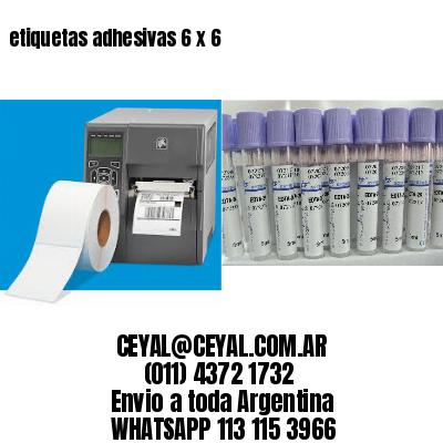 etiquetas adhesivas 6 x 6