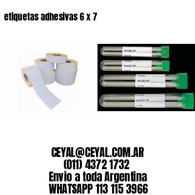 etiquetas adhesivas 6 x 7