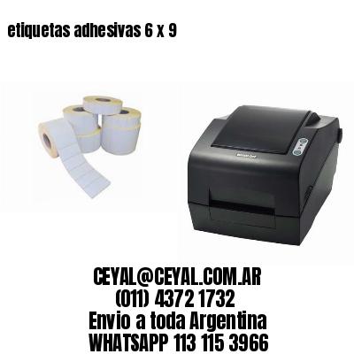 etiquetas adhesivas 6 x 9