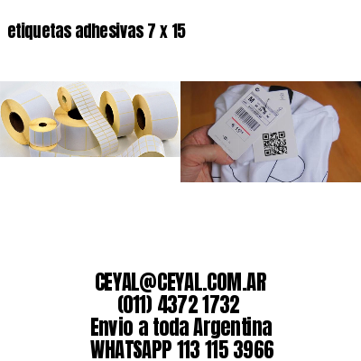 etiquetas adhesivas 7 x 15