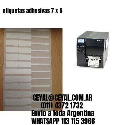 etiquetas adhesivas 7 x 6