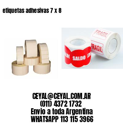 etiquetas adhesivas 7 x 8