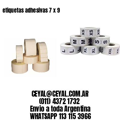 etiquetas adhesivas 7 x 9