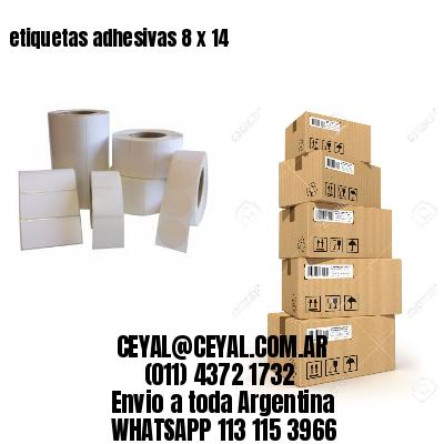 etiquetas adhesivas 8 x 14