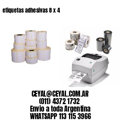 etiquetas adhesivas 8 x 4