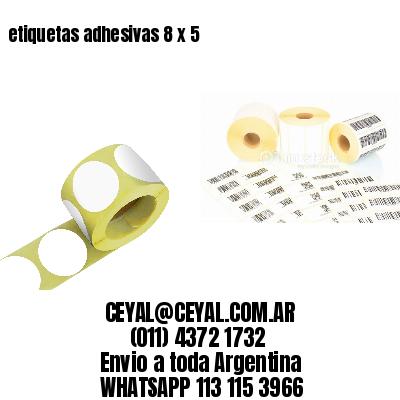 etiquetas adhesivas 8 x 5