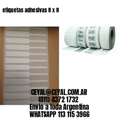 etiquetas adhesivas 8 x 8