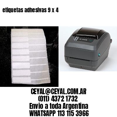 etiquetas adhesivas 9 x 4