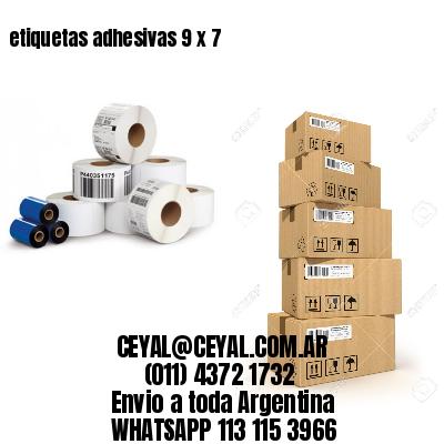 etiquetas adhesivas 9 x 7