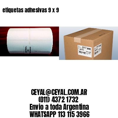 etiquetas adhesivas 9 x 9