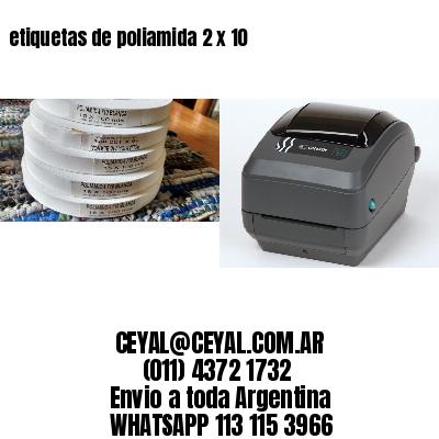 etiquetas de poliamida 2 x 10