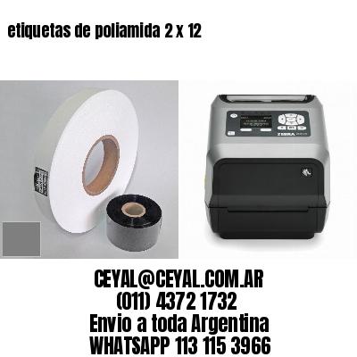 etiquetas de poliamida 2 x 12