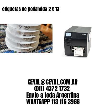 etiquetas de poliamida 2 x 13