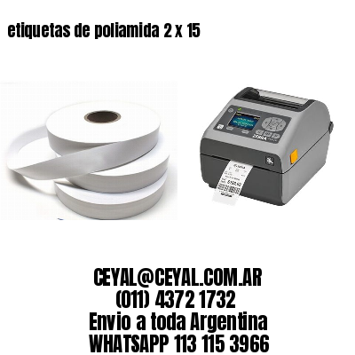 etiquetas de poliamida 2 x 15