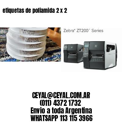 etiquetas de poliamida 2 x 2